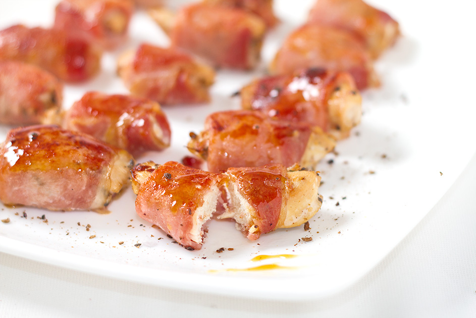 Tip for making Bacon Wrapped Chicken bites more interesting