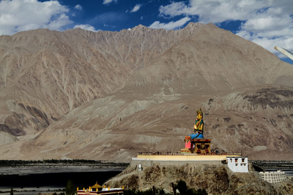 The huge Buddha statue Facing Westwards towards Pakistan