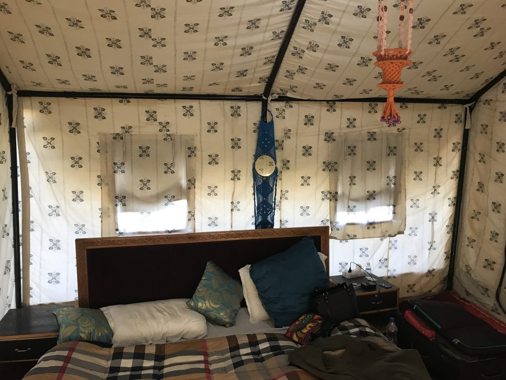 Kargil Tourist Camps- Tents from inside