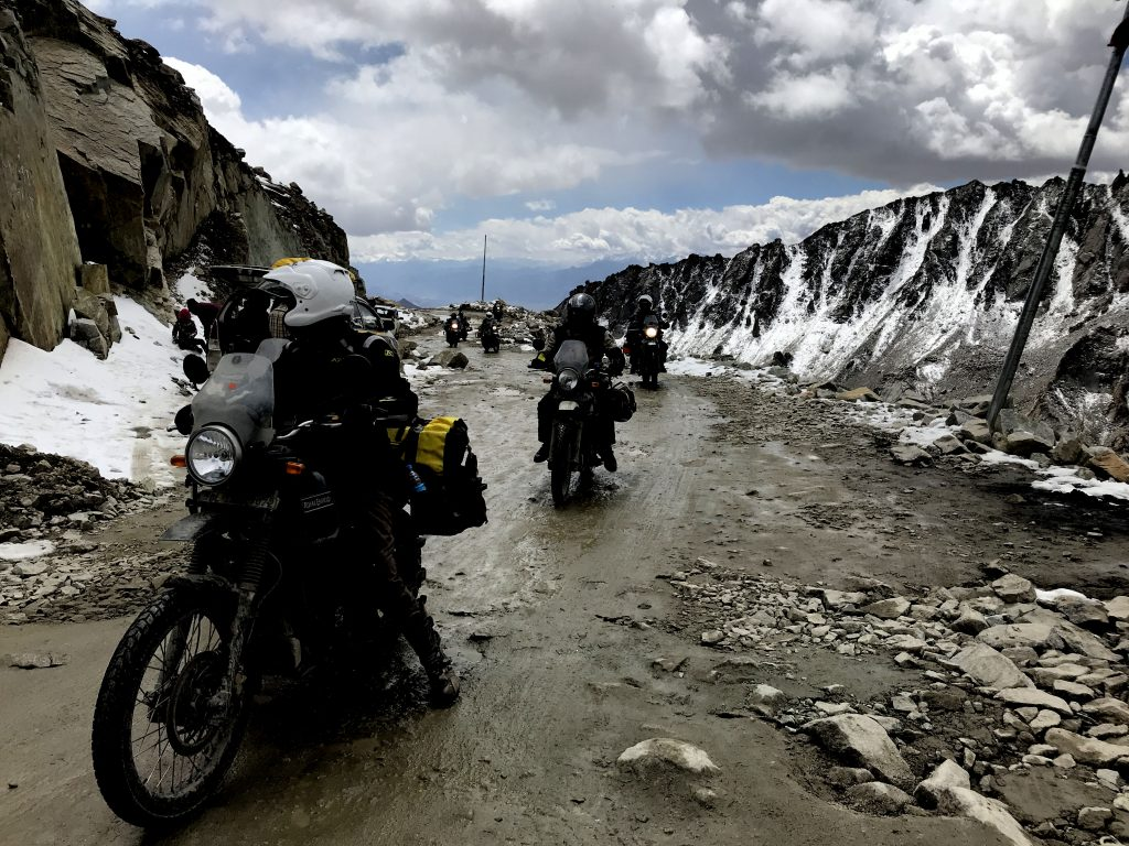 Motorcyclists at Khardung La