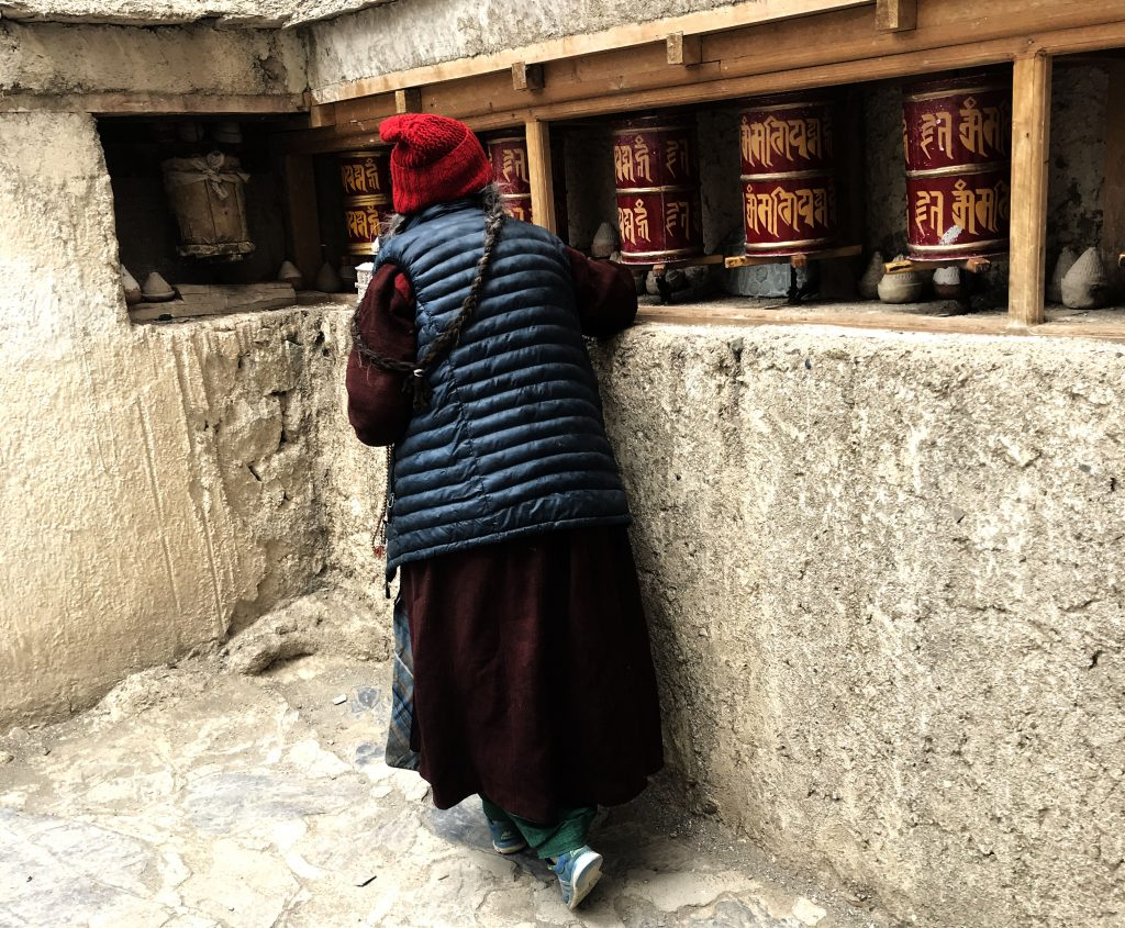 The old woman at Lamayaru Monastery
