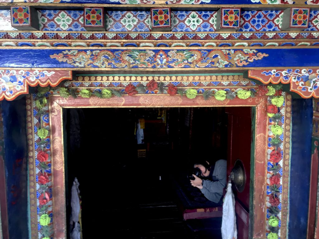 Diskit Monastery - details of the door