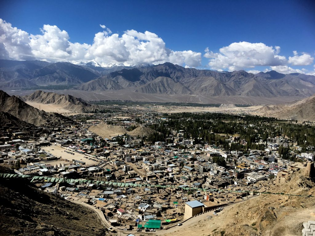 Birds eye view of Leh