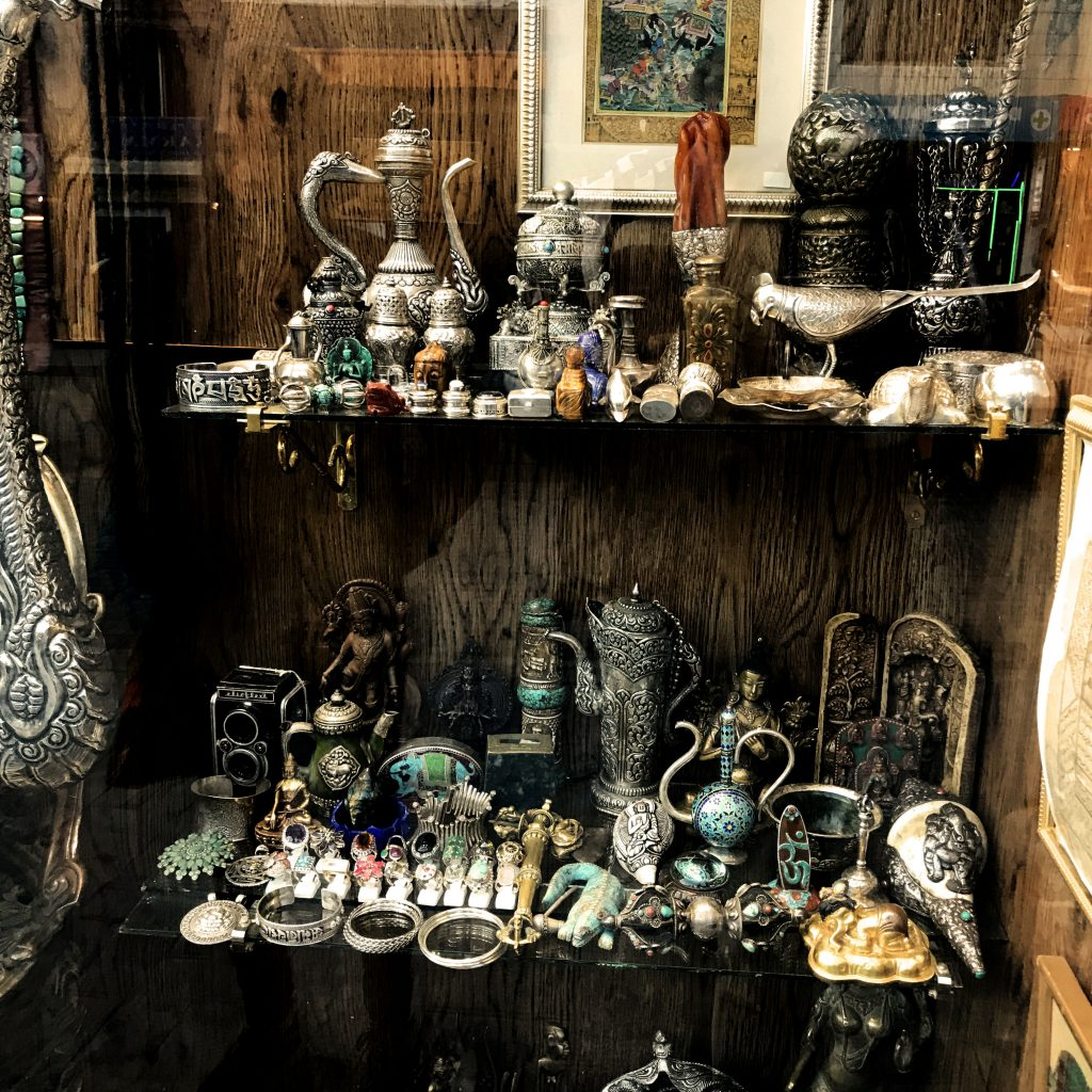 A trinket shop at the Leh market